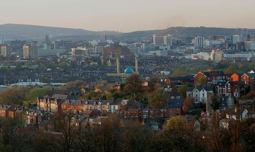 sheffield at dusk