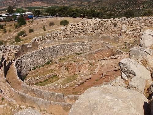 mycenae grave circle above