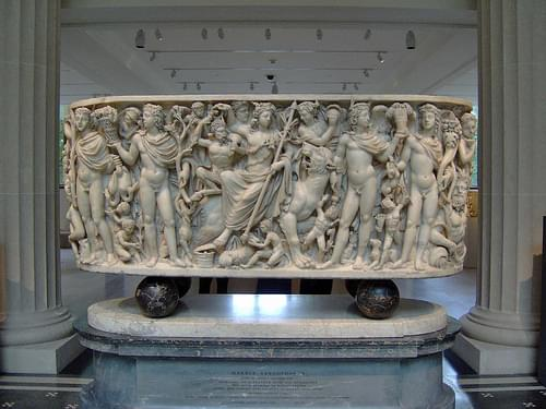 Triumph of Dionysos and the Seasons Sarcophagus  (Badminton Sarophagus)