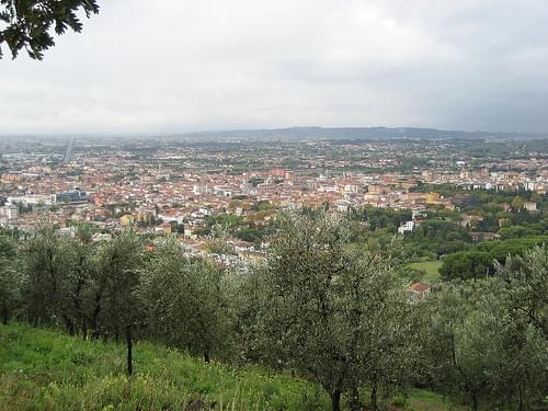 Montecatini-Terme vanuit Montecatini-Alto