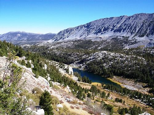 Looking down the Little Lakes Valley, from along the Mono Pass Trail - mono13x