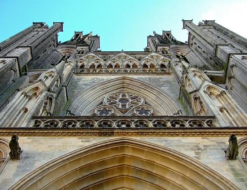 coutances cathedral, skyward