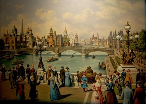 Part of a Paris World Exposition Panorama