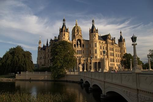 Schwerin castle - view from city