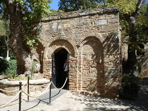 House of Virgin Mary, the entrance to the house.  We couldn't take pictures inside because this is a sacred place.