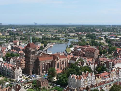 View from Gdansk Cathedral's Tower