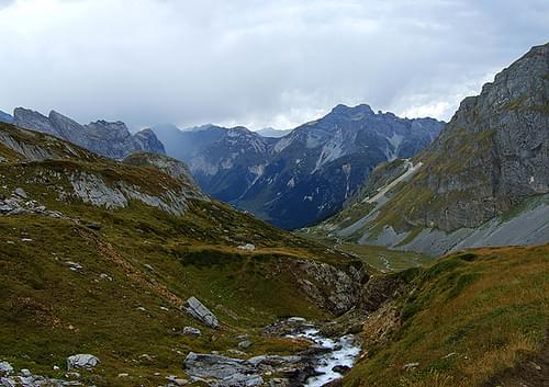 looking towards Pralognan-la-Vanoise on the way to the Vanoise pass