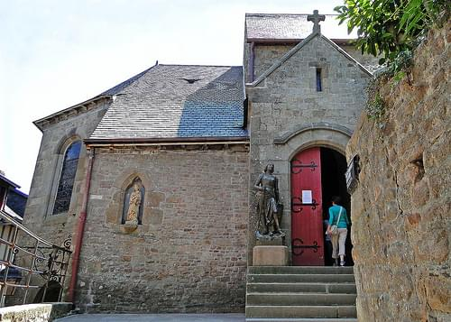 Entrance to Saint-Pierre church, Mont Saint-Michel, Normandy, France