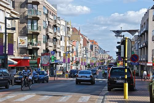 Rue de l'Eglise (Kerkstraat) à Middelkerke