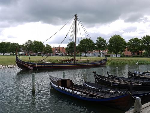 Viking Ship Recreation in Dock