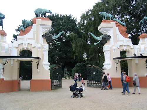 Historical Entrance to Hagenbecks Tierpark (Zoo)
