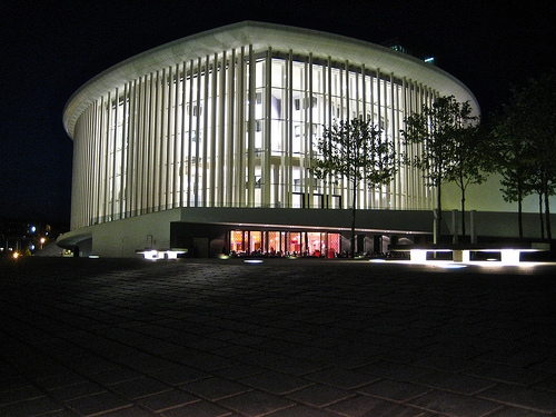 philharmonie at night