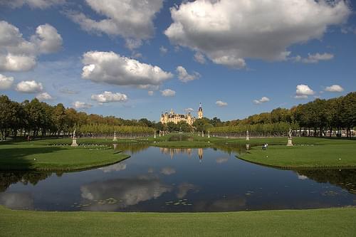 Lenné park Schwerin - Schlosspark und Schloss Schwerin