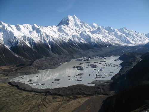 Tasman Glacier & Mount Cook
