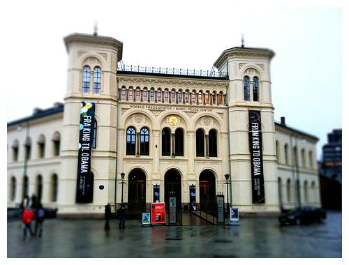 Nobel Peace Center in the rain