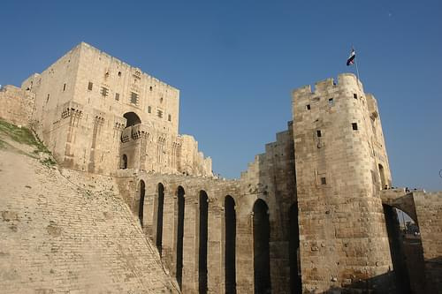 The mighty citadel of Aleppo