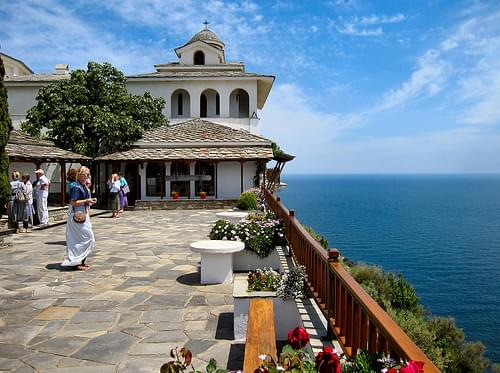 THE ARCHANGELOU MONASTERY. THASSOS. GREECE.