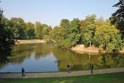 Le lac vu du bout est (Bois de la Cambre-Brussels)