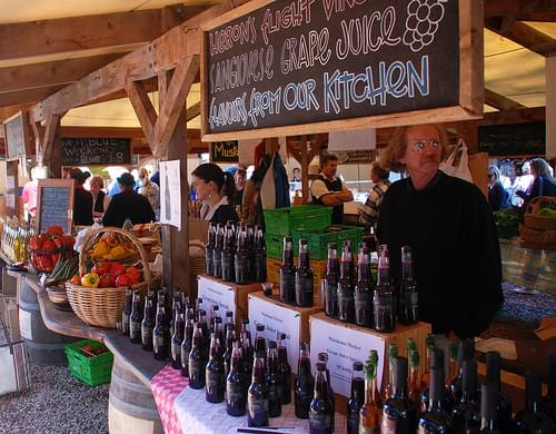 Wine at Matakana Farmers Market