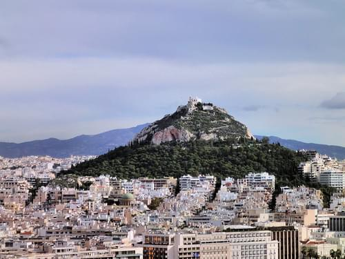 Honeymoon Cruise: Athens: Mount Lycabettus from the Acropolis