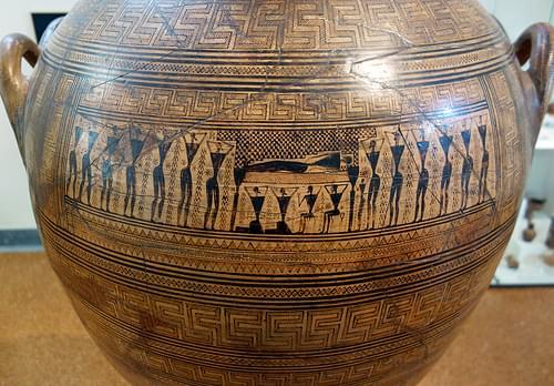 Main Frieze, Dipylon Amphora, c. 755-750 B.C.E.