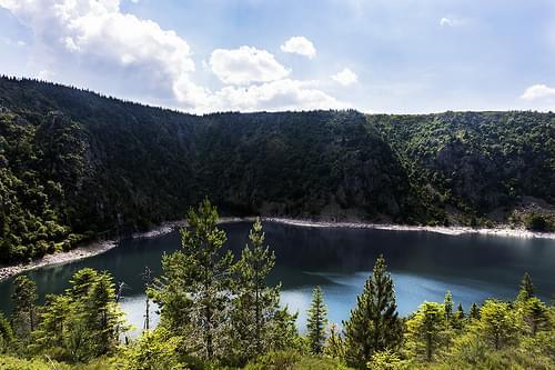 Randonnée VTT en montagne, au Lac Blanc