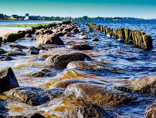 Daugava river and rocks