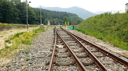 Gangchon Rail Bike Park in Gangwon-do