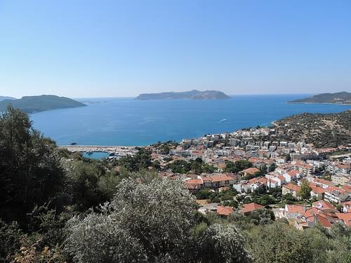 View over Kaş, Turkey