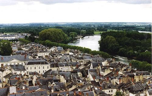 Chinon and the Loire from the chateau
