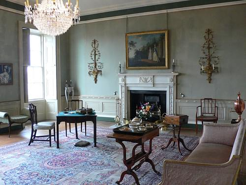 Drawing room at the Georgian house, Bristol