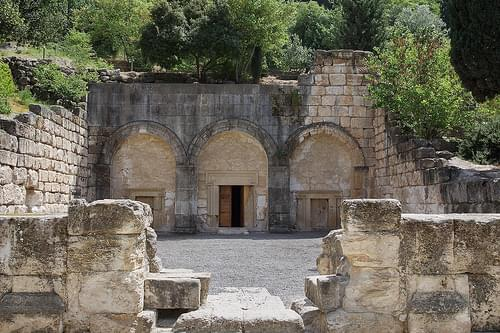 Beit Shearim - entrance to large burial cave
