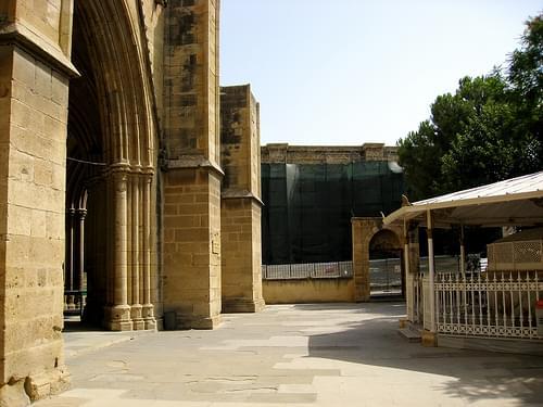 Agia Sofia Mosque (Turkish Mosque) on the occupied Turkish side of Nicosia (Lefkosia), Cyprus