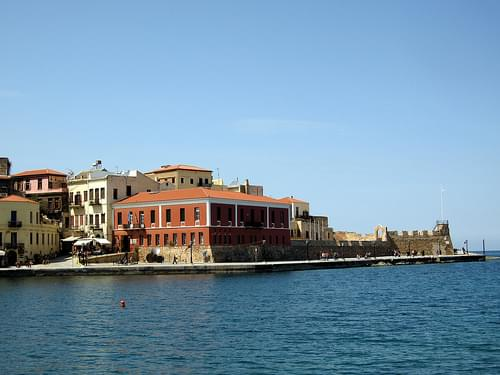 West side of chania old town coast