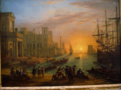 Port de mer au soleil cochant. Claude Lorrain