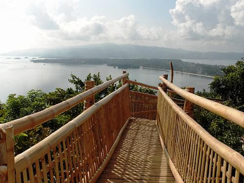 bamboo ramp on top of mount luho