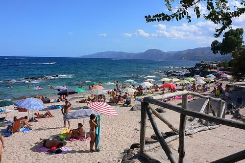 Town beach in Cala Gonone