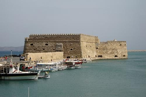 Iraklion harbour, The Venetian fortress - Koules