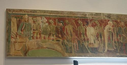 Danse Macabre fresco reproduction, Veliki Brijun