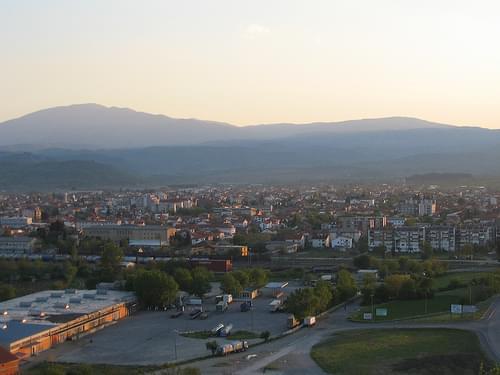 Gevgelija, View from Vardar Hill