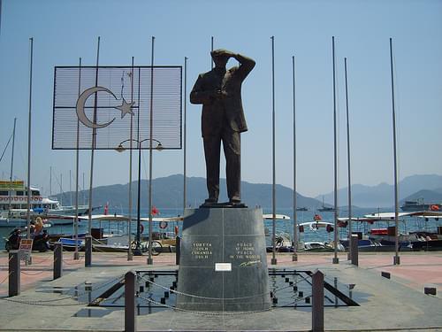 Ataturk statue.