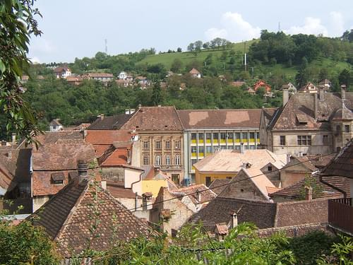 View over Sighisoara old town