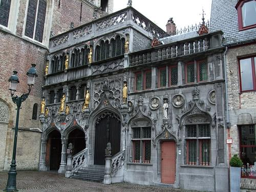 Basilica of the Holy Blood - Saint-Baselius Chapel, Bruges, Belgium.