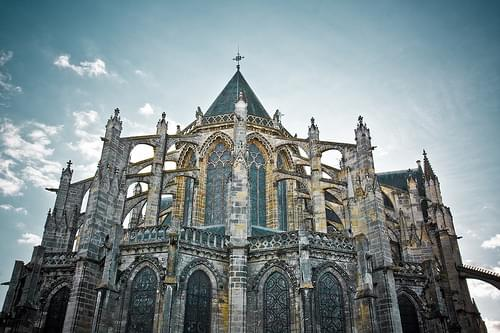 Back of St-Gatien Cathedral in Tours, France