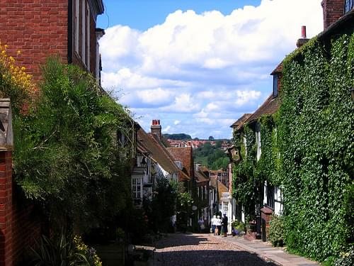 The Cobblestone Streets of Rye, East Sussex