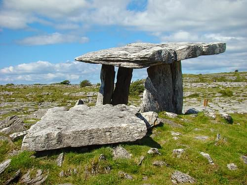 Poulnabrone Dolmen in Burren National Park 06