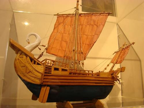 Model of Roman ship