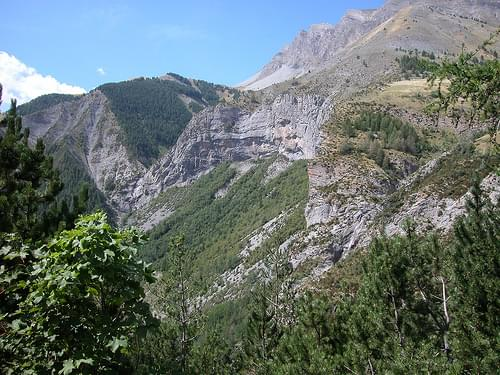 1550 - Col del la Cayolle - Looking south west below Pont St Roch