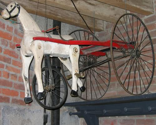 old horse and cart toy