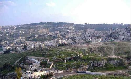 Top of Mt. Zion looking over City of David